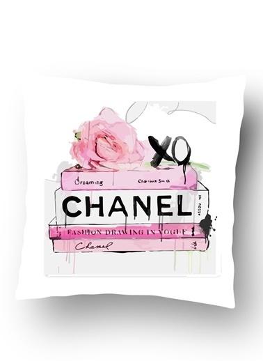 Lyn Home & Decor Chanel Kitaplar Yastık Kılıfı Renkli